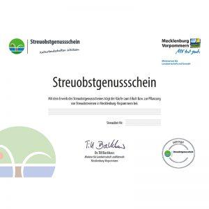 SOS-MV Streuobstgenussschein-Zertifikat